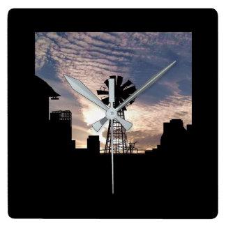 Relógio Quadrado pulso de disparo do moinho de vento