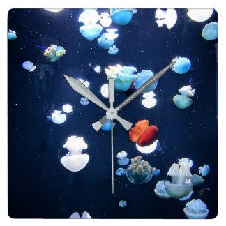 Relógio Quadrado Pulso de disparo do monograma das medusas do