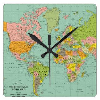 Relógio Quadrado Pulso de disparo do mundo