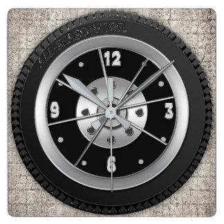 Relógio Quadrado Pulso de disparo do pneu - fundo quadrado -