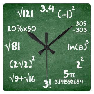 Relógio Quadrado Pulso de disparo dos Maths para amantes da