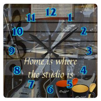 Relógio Quadrado Pulso de disparo Home do estúdio