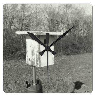 Relógio Quadrado Pulso de disparo preto e branco do quadrado da