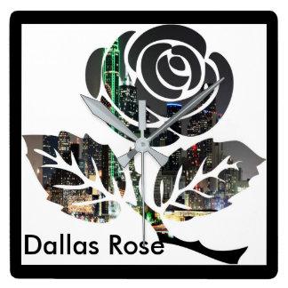 Relógio Quadrado Pulso de disparo quadrado cor-de-rosa de Dallas
