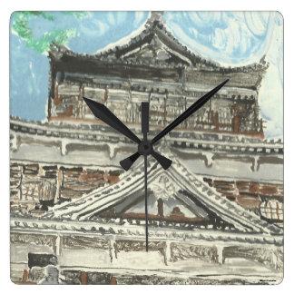 Relógio Quadrado Pulso de disparo quadrado de Japão do castelo