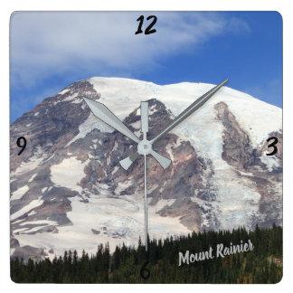 Relógio Quadrado Pulso de disparo quadrado do Monte Rainier