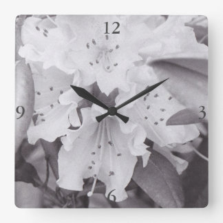 Relógio Quadrado Pulso de disparo quadrado floral cinzento