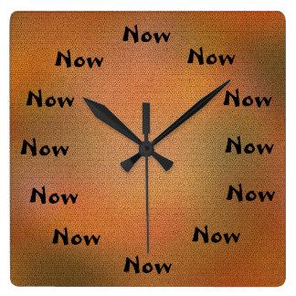 Relógio Quadrado Pulsos de disparo de parede agora de inspiração do