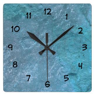 Relógio Quadrado Pulsos de disparo de pedra da decoração da parede