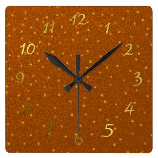 Relógio Quadrado quadrados amarelos pequenos pulso de disparo