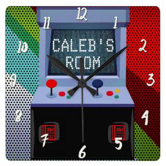Relógio Quadrado Quarto personalizado manche do jogo de vídeo da