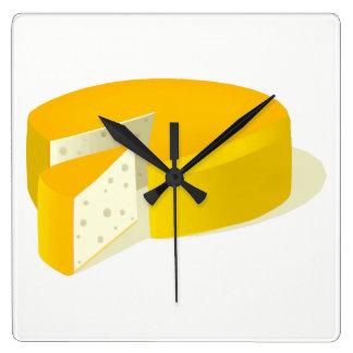 Relógio Quadrado Queijo