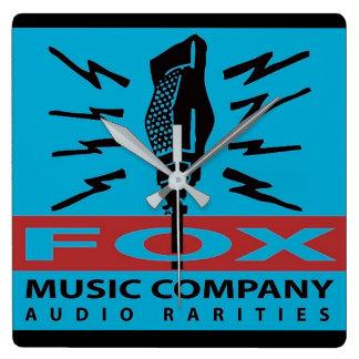 Relógio Quadrado Raridades do áudio de Fox Música Empresa