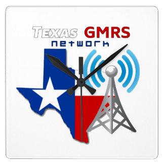Relógio Quadrado Rede de Texas GMRS - Wallclock