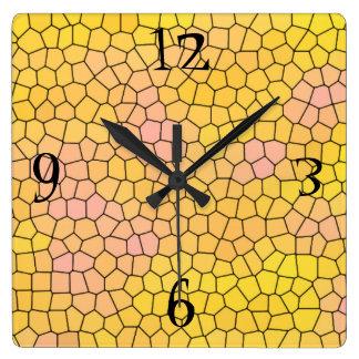 Relógio Quadrado Refrigere o pulso de disparo de parede do design