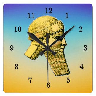 Relógio Quadrado Rei do pulso de disparo de parede acrílico do