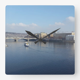 Relógio Quadrado Rio de Vltava e Újezdv, pulso de disparo de Praga