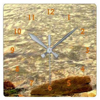 Relógio Quadrado Rochas litorais