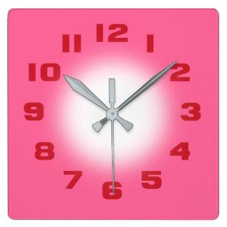 Relógio Quadrado Rosa