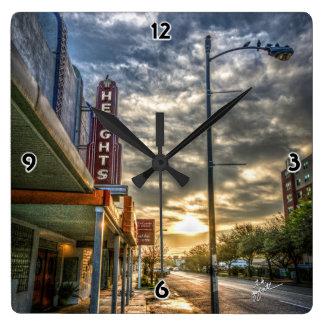 Relógio Quadrado Rua das alturas de Houston 19a