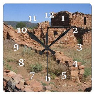 Relógio Quadrado Ruínas de Kinishba