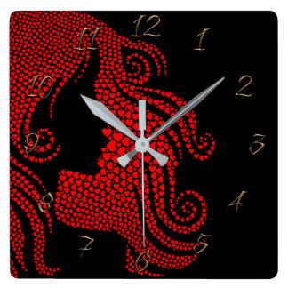 Relógio Quadrado salão de beleza da Cabeleireiro-beleza
