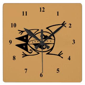Relógio Quadrado Sapo tribal