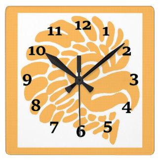 Relógio Quadrado Selo mexicano do pássaro