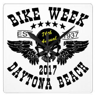 Relógio Quadrado Semana 2017 da bicicleta de Daytona Beach do