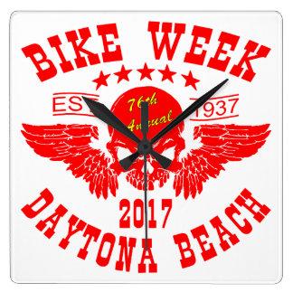 Relógio Quadrado Semana 2017r da bicicleta de Daytona Beach do