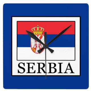 Relógio Quadrado Serbia