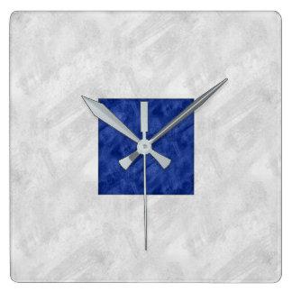 Relógio Quadrado Serra bandeira marítima de S do sinal náutico da