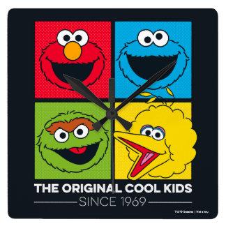 Relógio Quadrado Sesame Street | os miúdos legal originais