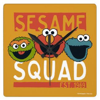 Relógio Quadrado Sesame Street - pelotão do sésamo