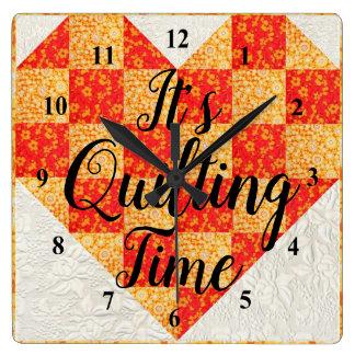 Relógio Quadrado Seu tempo estofando