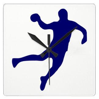 Relógio Quadrado Silhueta do handball