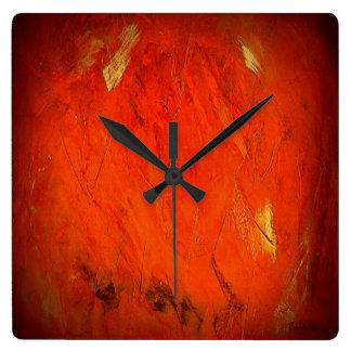 Relógio Quadrado Sombras de Adobe
