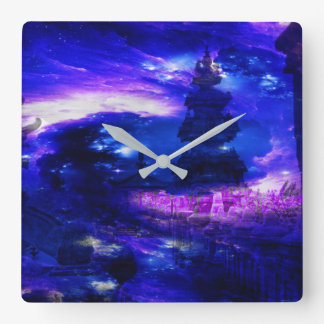 Relógio Quadrado Sonhos Amethyst de Bali da safira