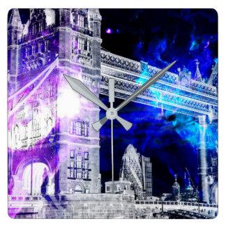 Relógio Quadrado Sonhos de Amorem Amisi Londres do anúncio