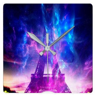 Relógio Quadrado Sonhos parisienses Amethyst