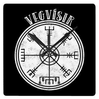 Relógio Quadrado Stave islandês do compasso de VEGVISIR