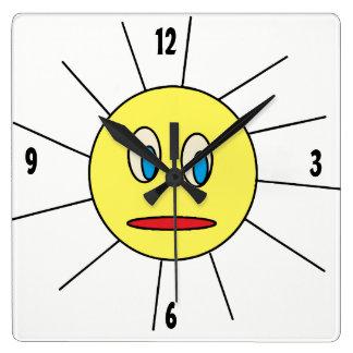 Relógio Quadrado Sun bonito enfrenta o pulso de disparo de parede
