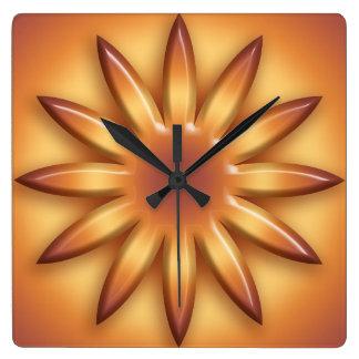 Relógio Quadrado Sun. Elemento geométrico do inclinação
