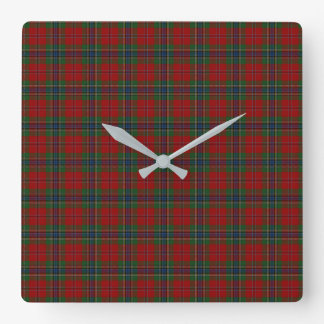 Relógio Quadrado Tartan MacLean moderno escocês de Maclean de Duart