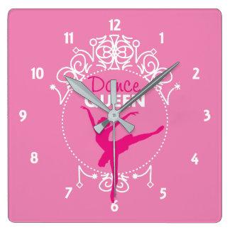 Relógio Quadrado Tema da dança do balé da rainha da dança bonito