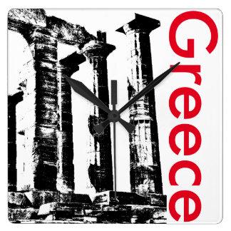 Minimalist Greece Temple of Poseidon Clock