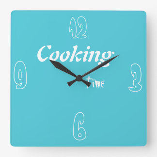 Relógio Quadrado tempo de cozinhar