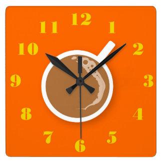 Relógio Quadrado Tempo do café