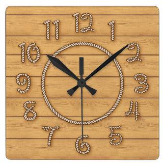 Relógio Quadrado Tempo ocidental da corda