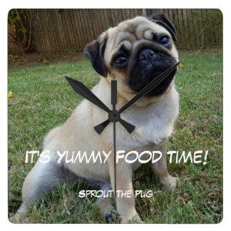 Relógio Quadrado Tempo saboroso da comida